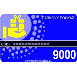 Dárkový poukaz 9000
