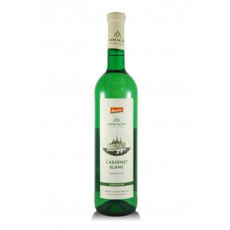 Cabernet Blanc 2016, kabinet, biodynamické víno, Vinné sklepy Kutná Hora