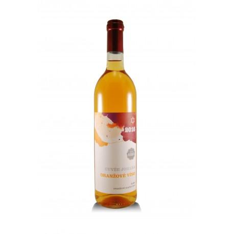 Cuvée Johana oranžové 2016, košer, České vinařství Chrámce